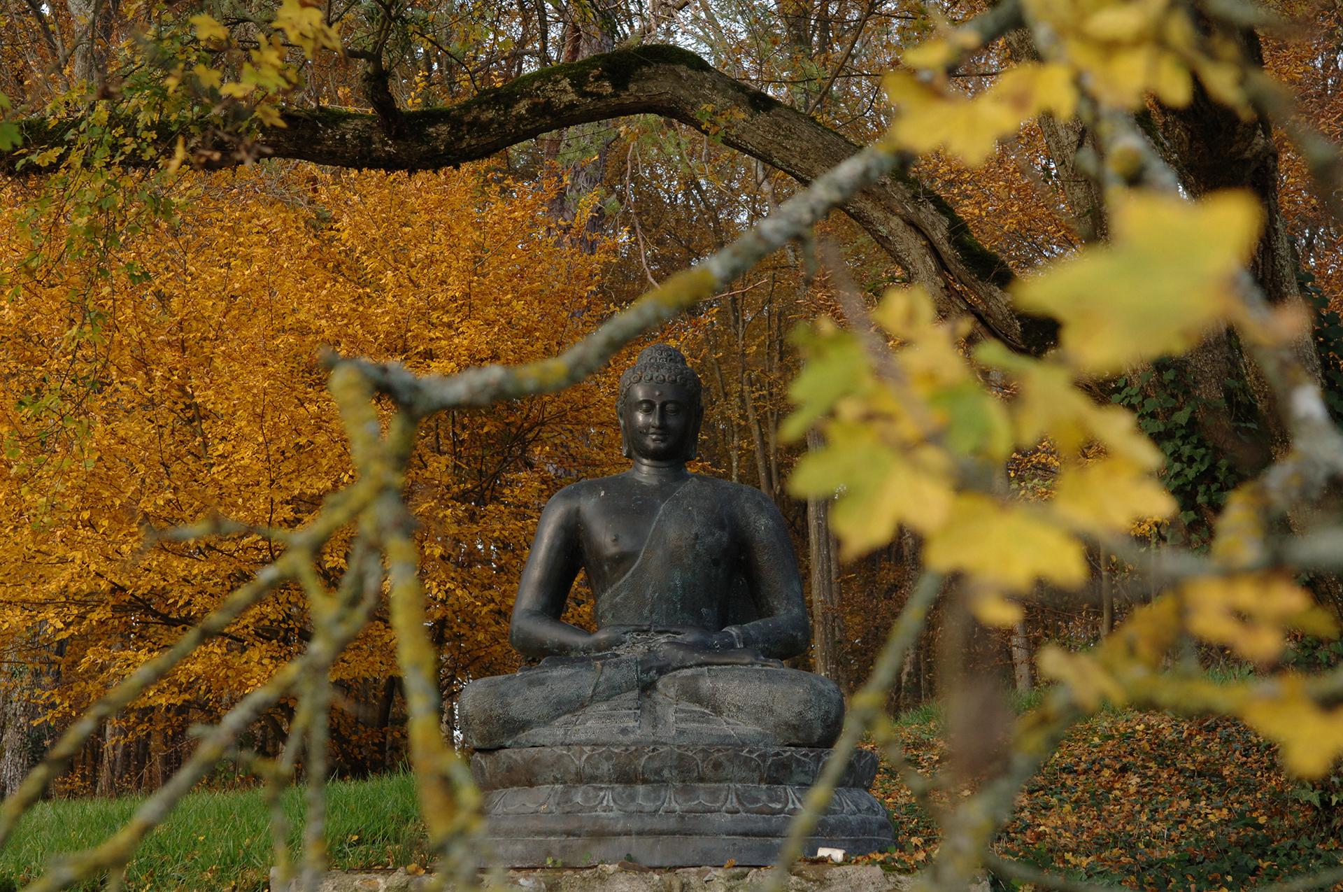 Bouddha dans le parc du Château de Vallery