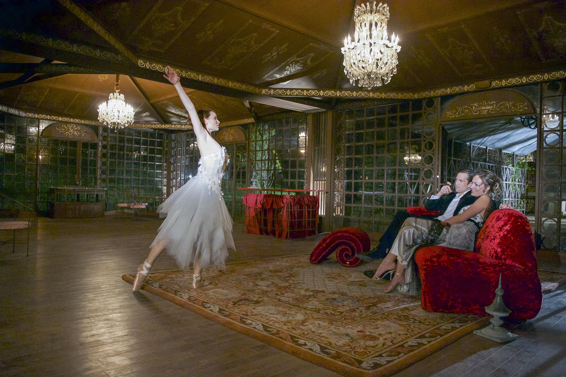 la Grande Galerie du Château de Vallery décorée pour un mariage