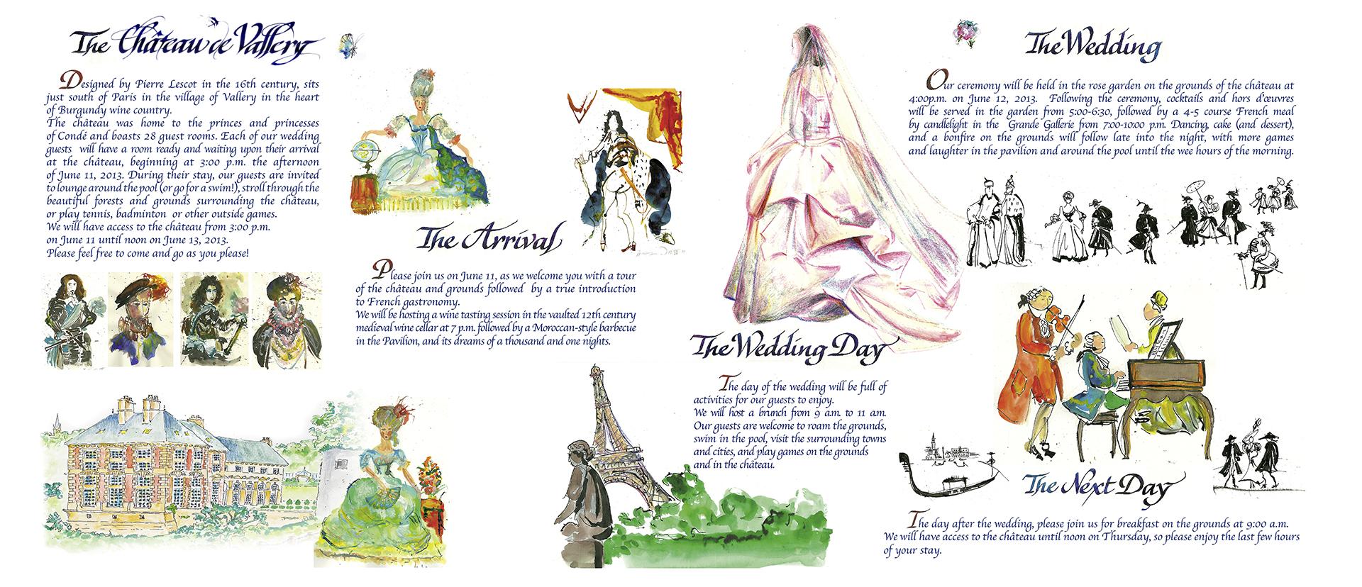 Invitation de mariage calligraphiée par Jean-Jacques Grand