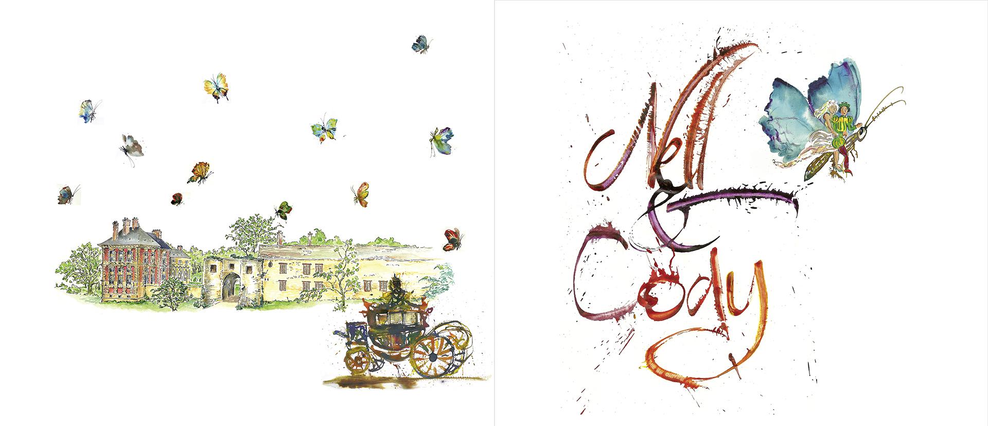 faire-part calligraphié par Jean-Jacques Grand pour un mariage à Vallery