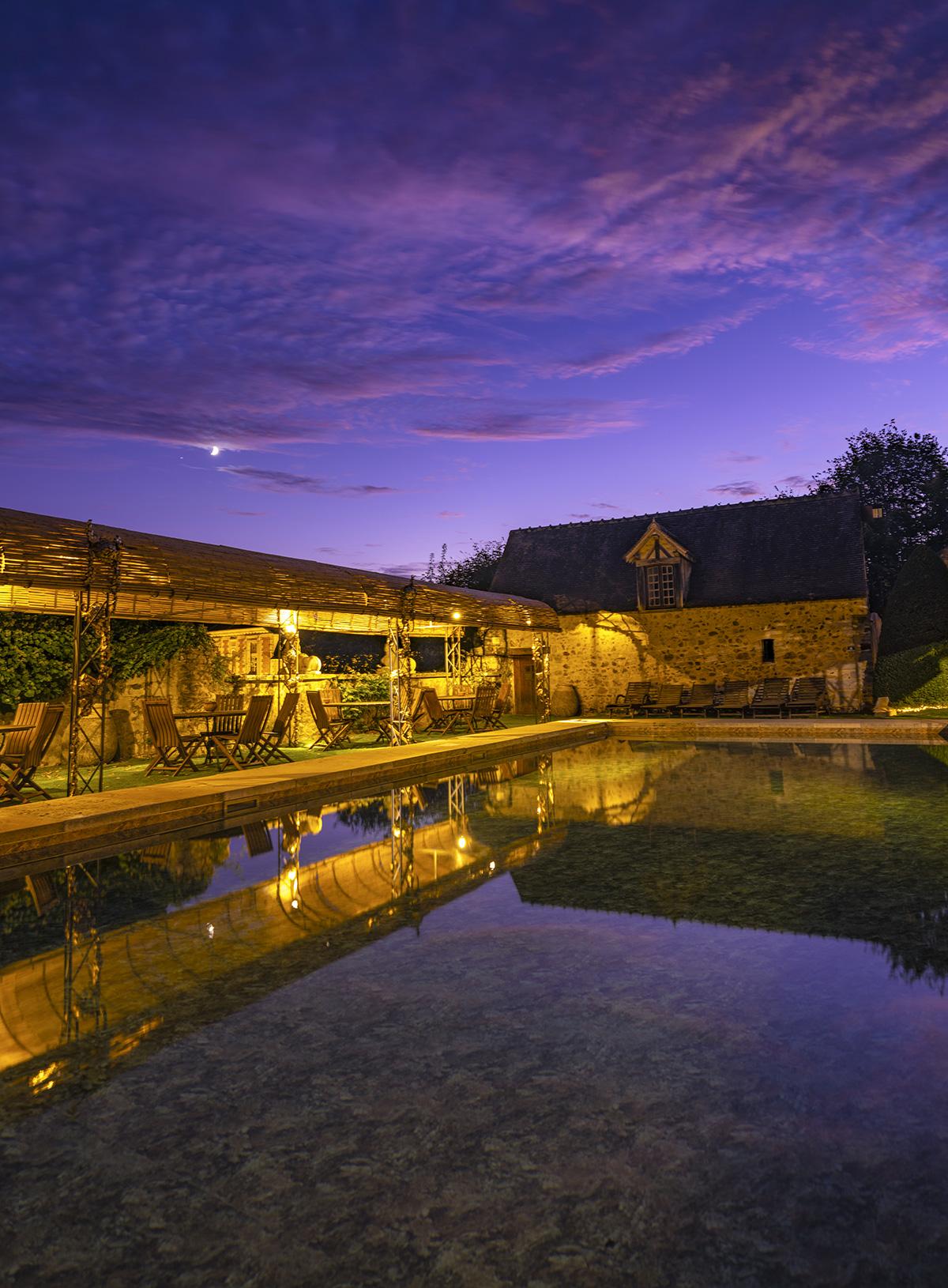 "la piscine ou ""Grand Bassin"" du Château de Vallery"