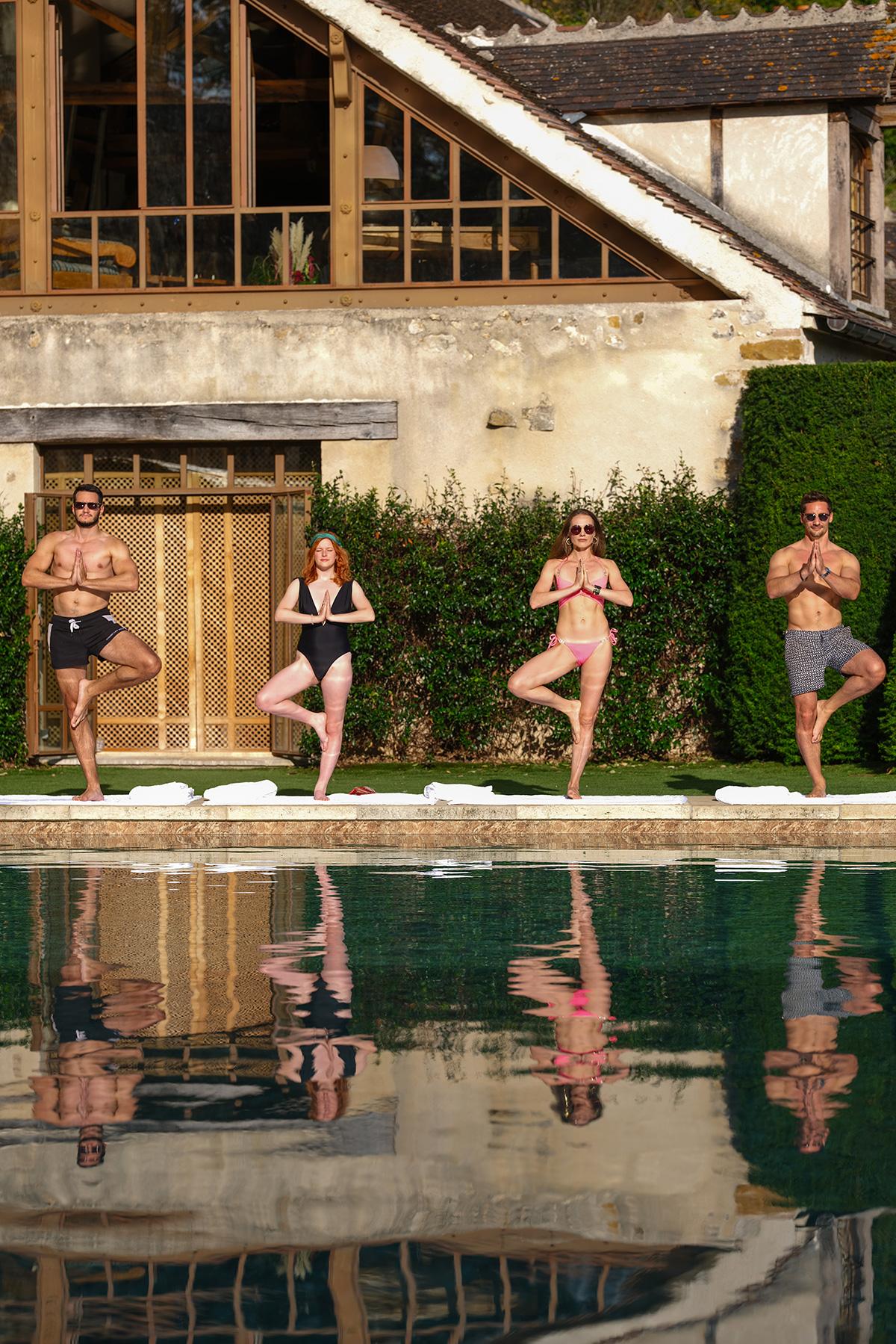 piscine et pavillon oriental